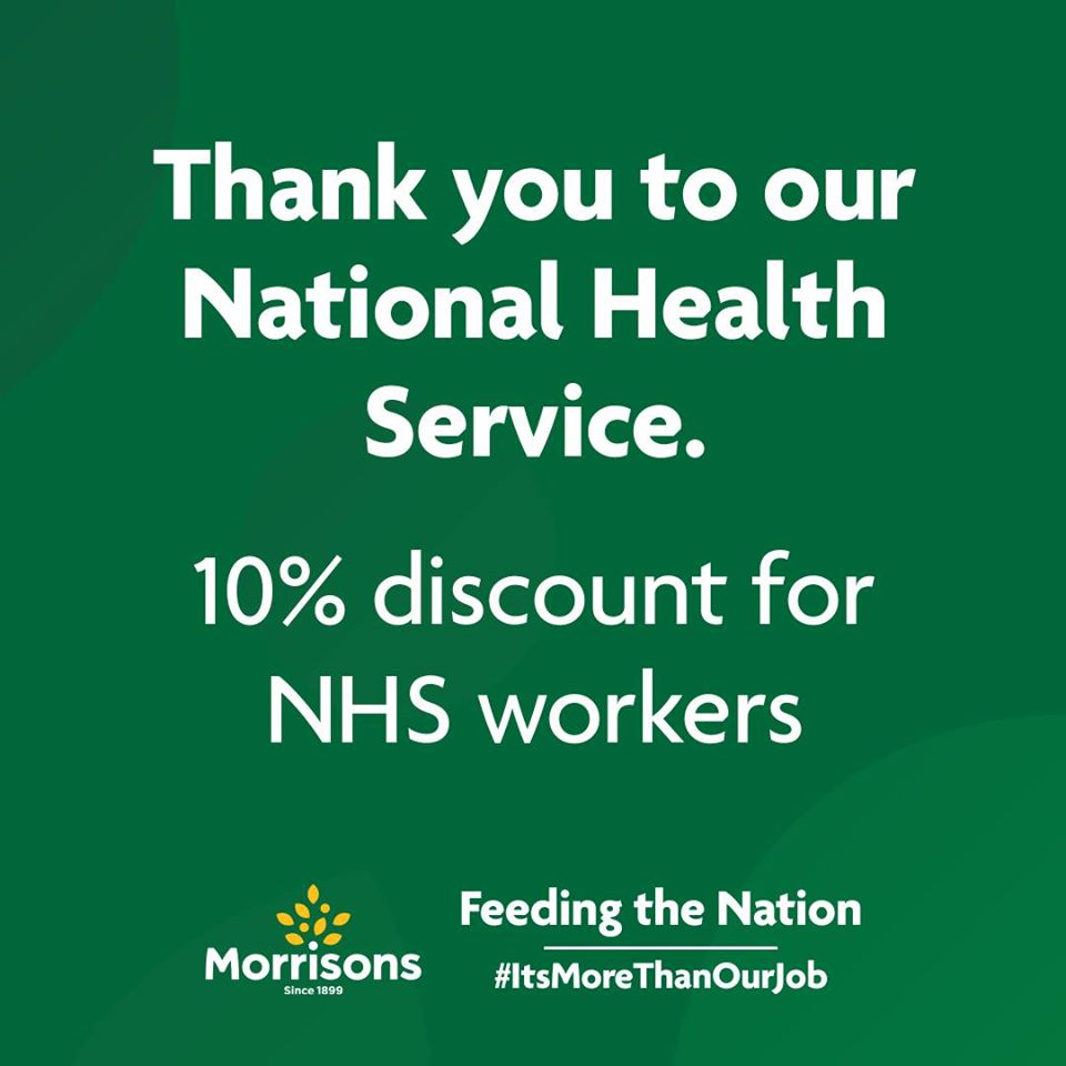 morrisons announce 10  discount for nhs staff
